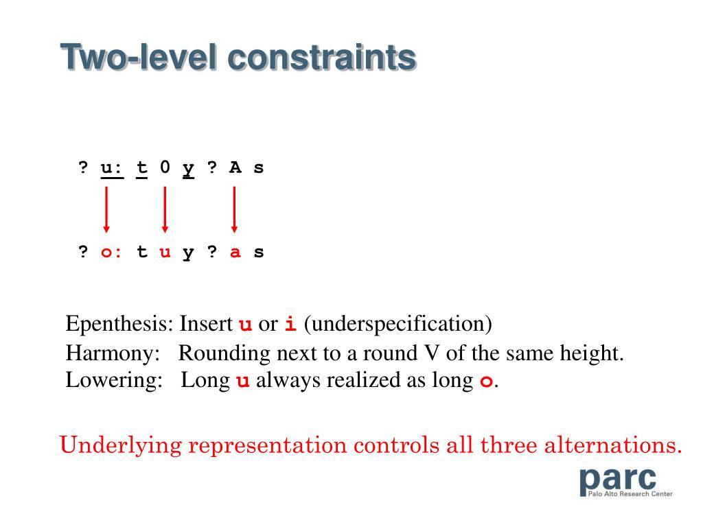 Two-level constraints