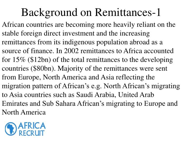 Background on remittances 1