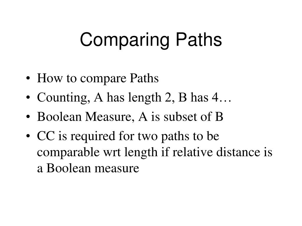 Comparing Paths