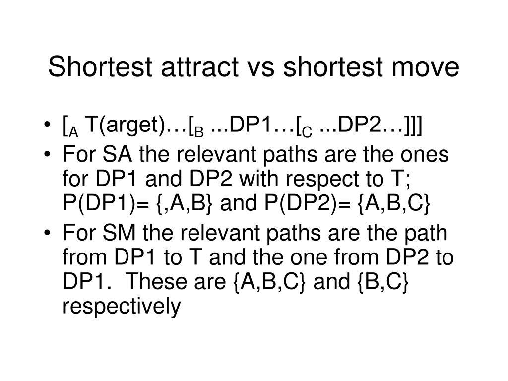 Shortest attract vs shortest move