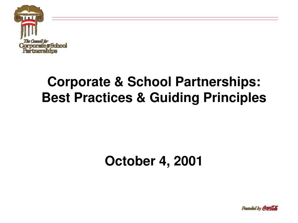 Corporate & School Partnerships: