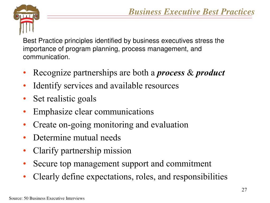 Business Executive Best Practices