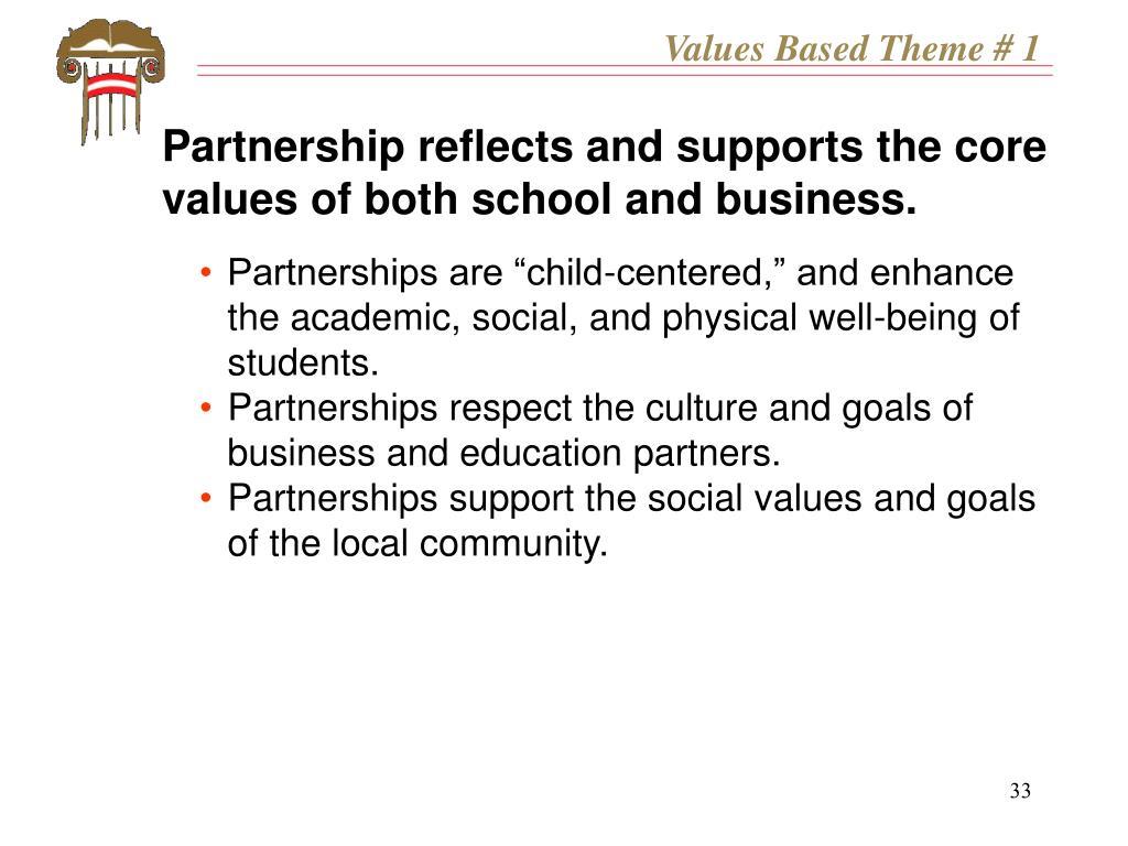 Values Based Theme # 1