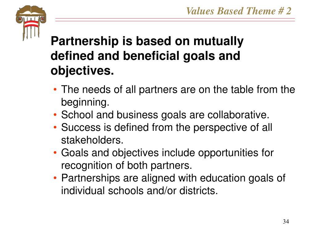 Values Based Theme # 2
