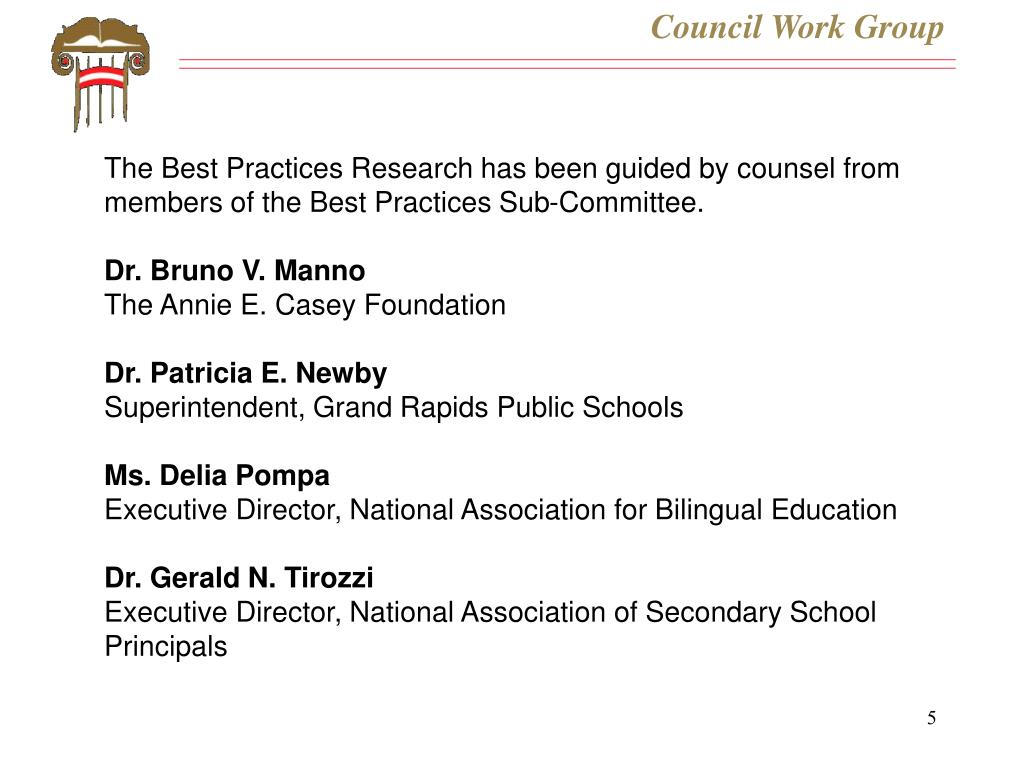 Council Work Group