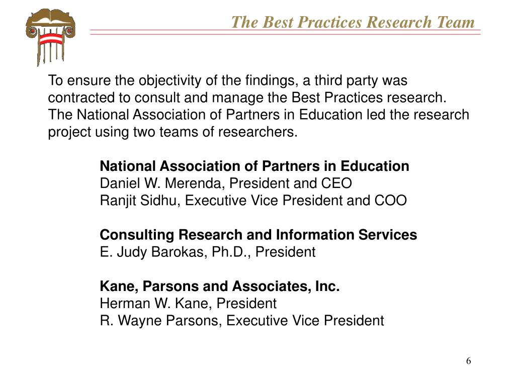 The Best Practices Research Team