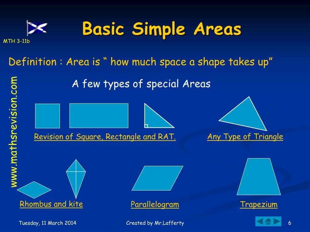 Basic Simple Areas
