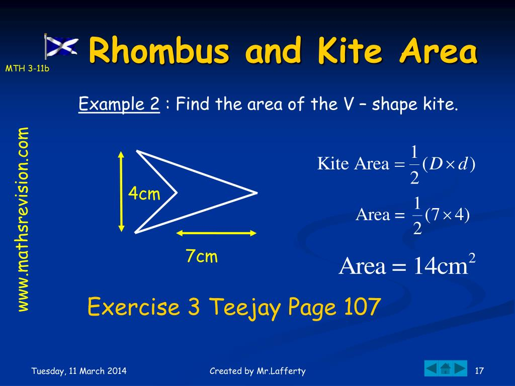 Rhombus and Kite Area