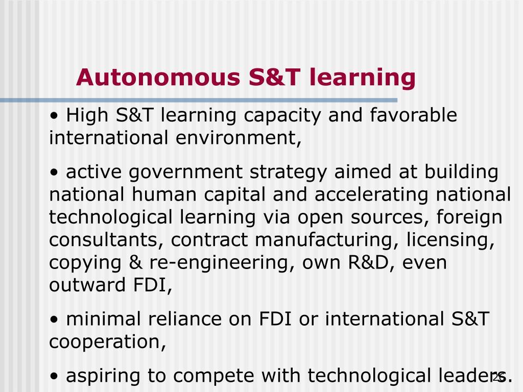 Autonomous S&T learning