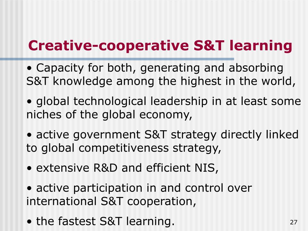 Creative-cooperative S&T learning