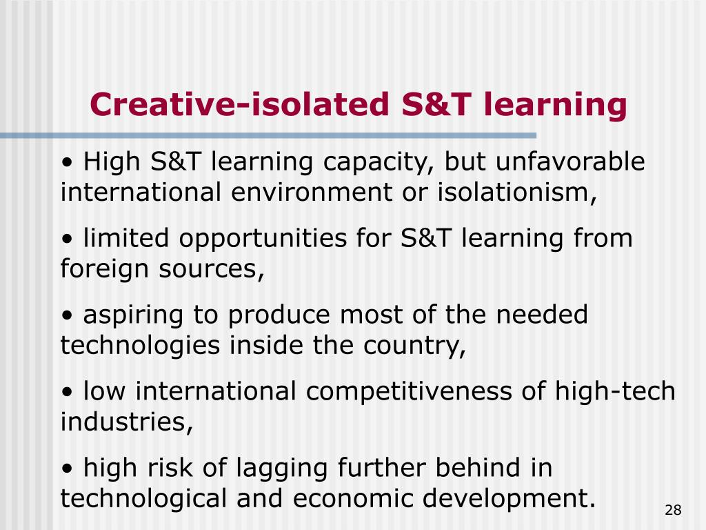 Creative-isolated S&T learning