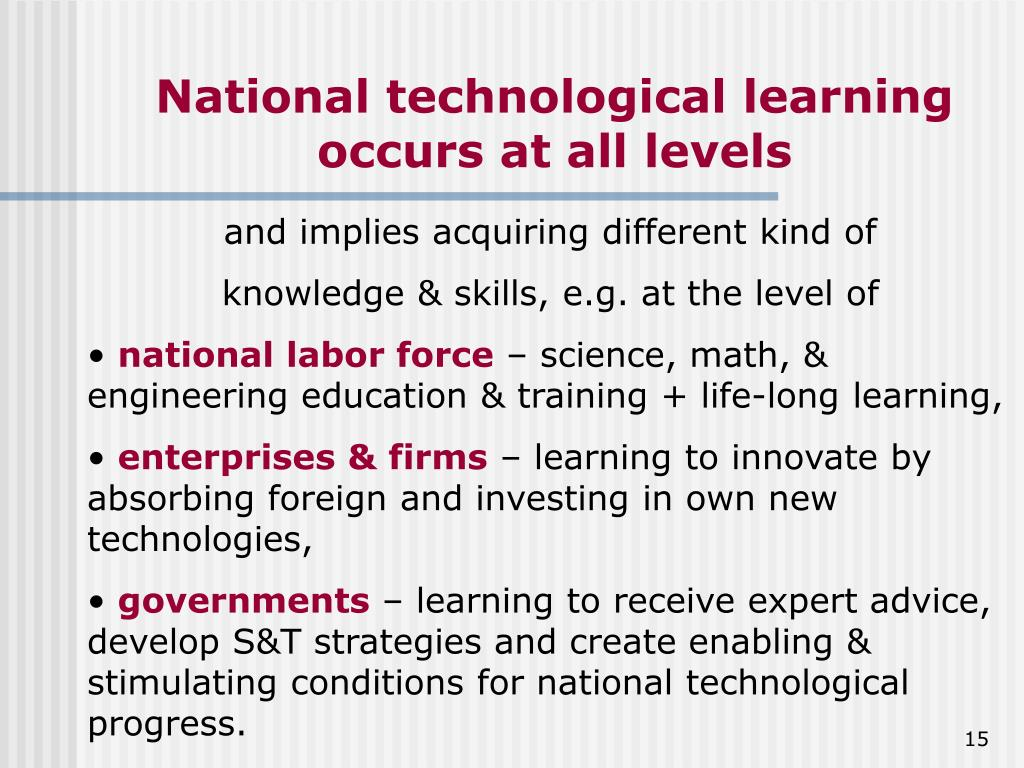 National technological learning