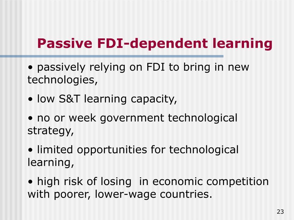 Passive FDI-dependent learning