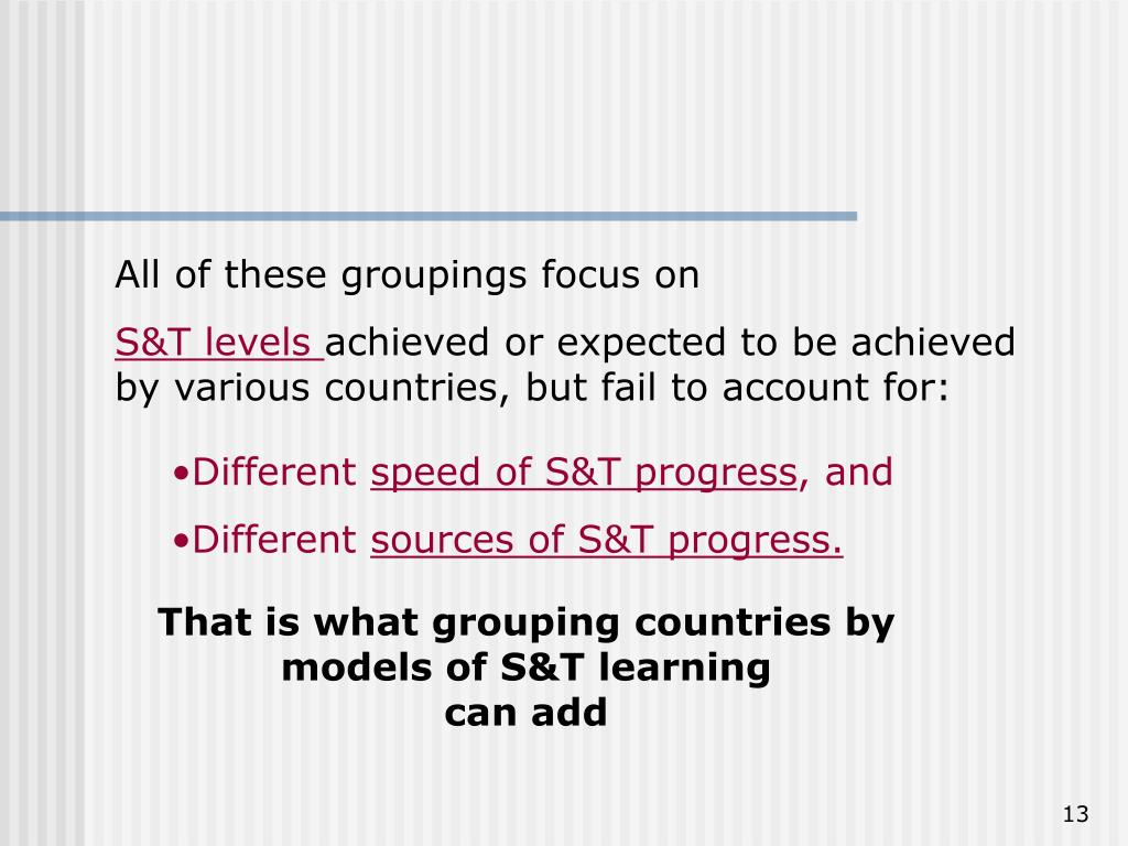 All of these groupings focus on