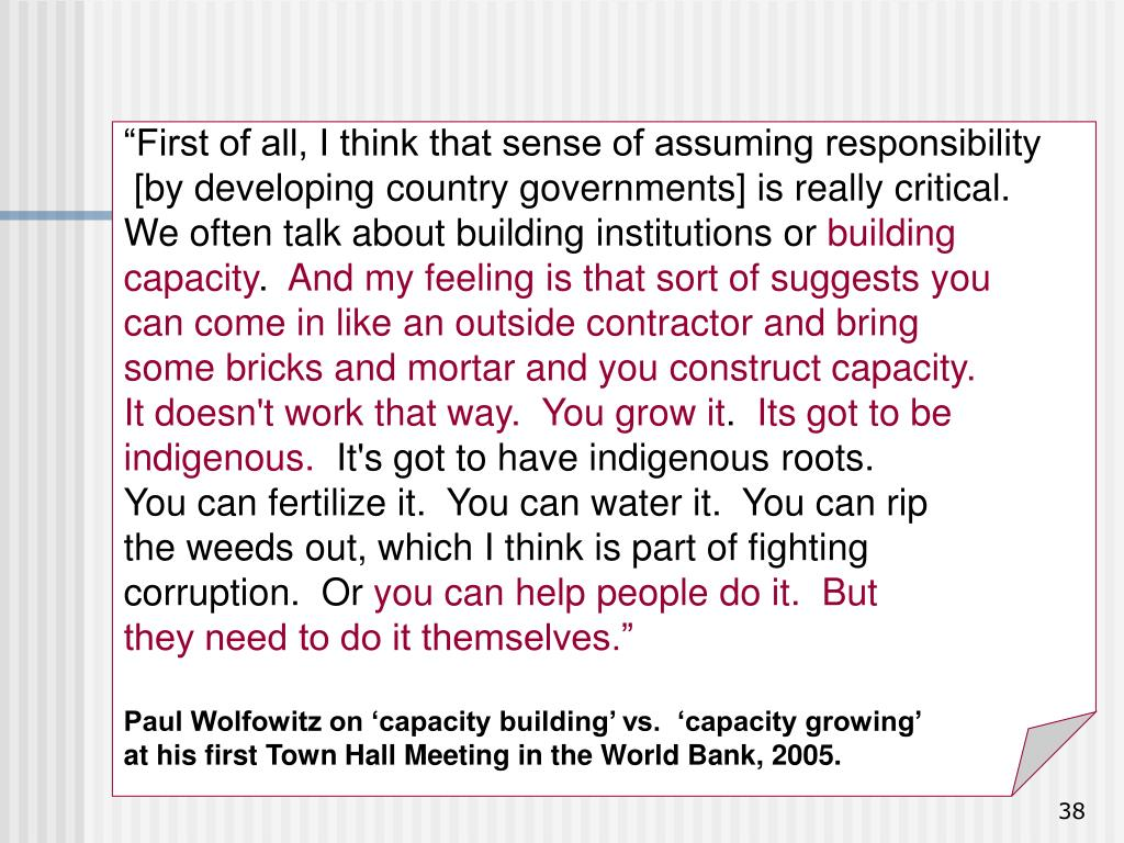 """""""First of all, I think that sense of assuming responsibility"""