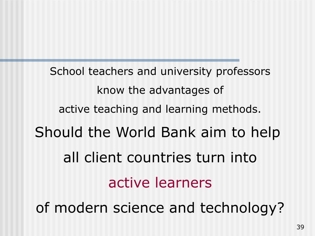 School teachers and university professors