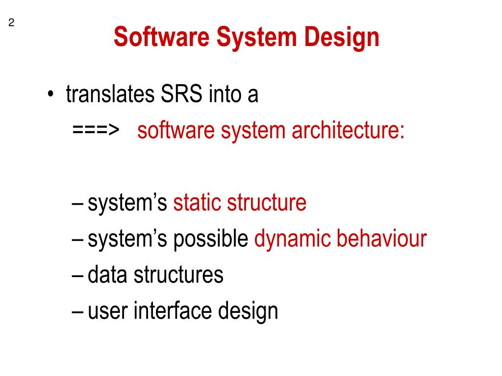 Software System Design