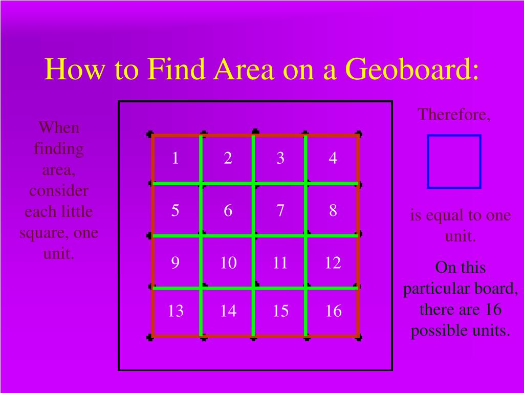 How to Find Area on a Geoboard: