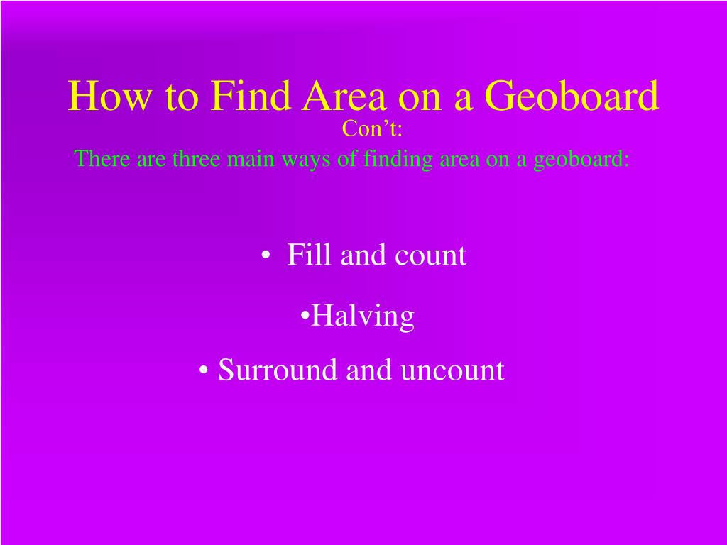 How to Find Area on a Geoboard