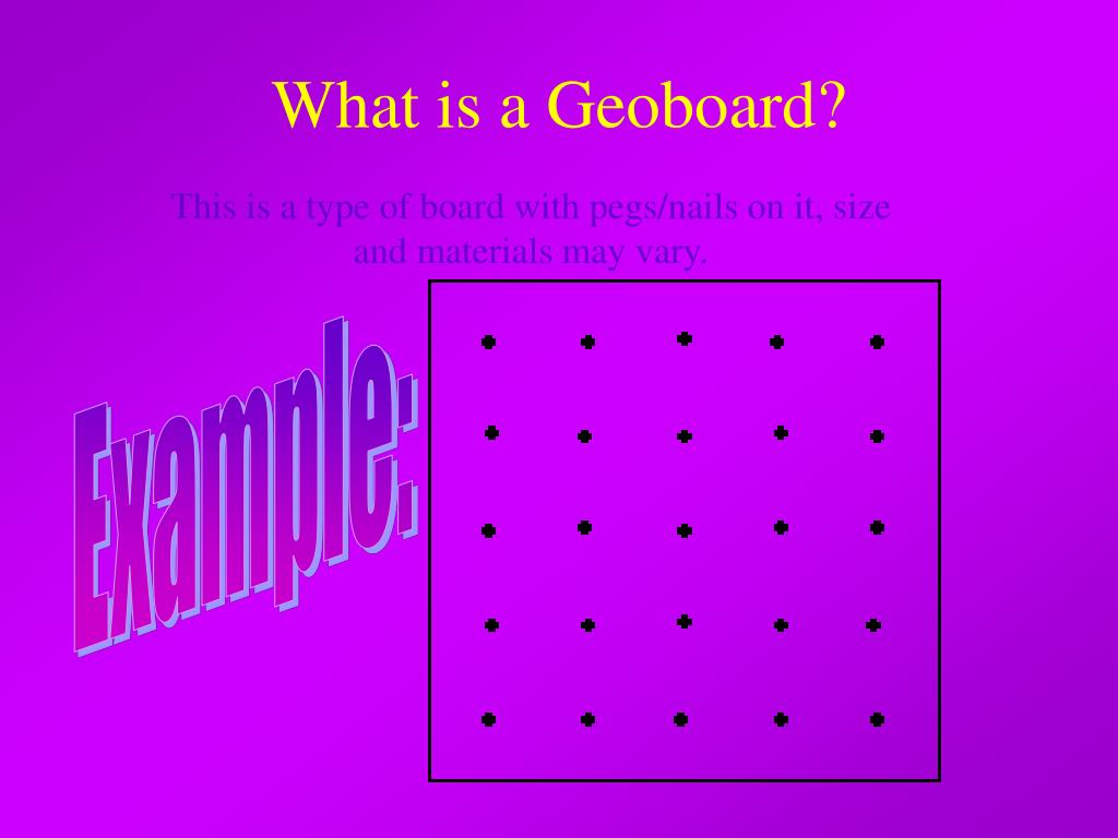 What is a Geoboard?