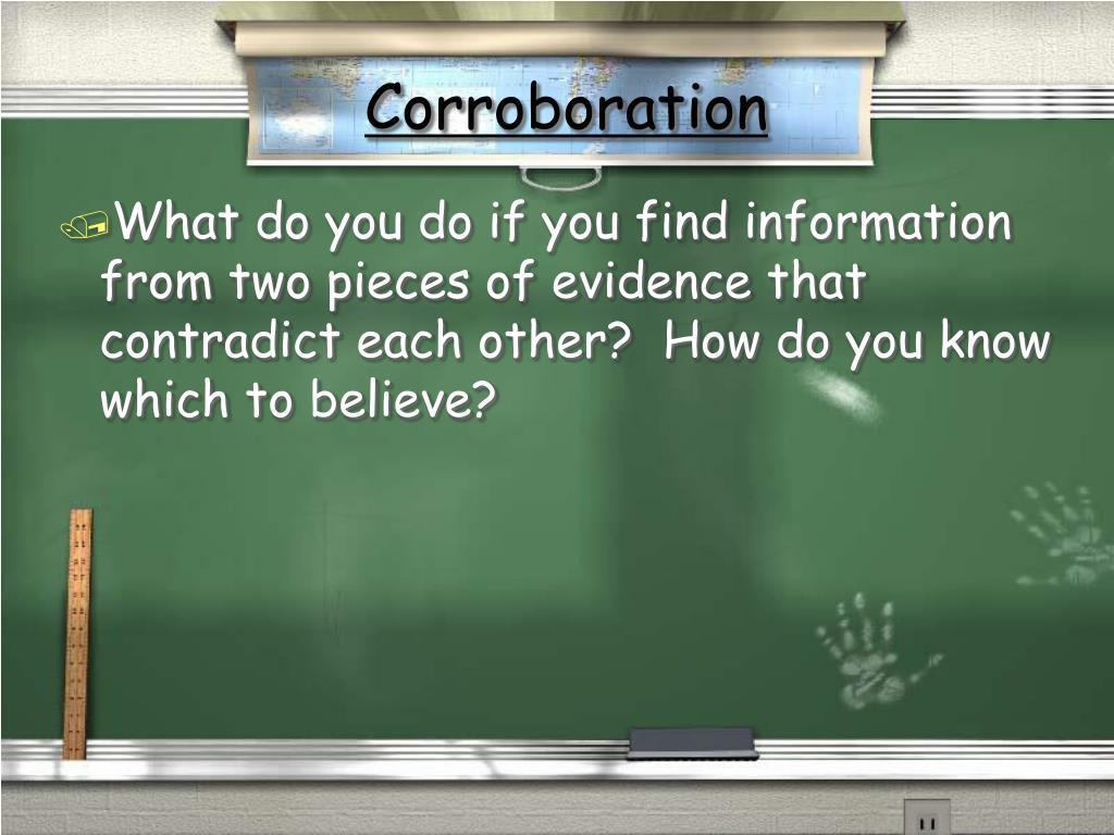 Corroboration