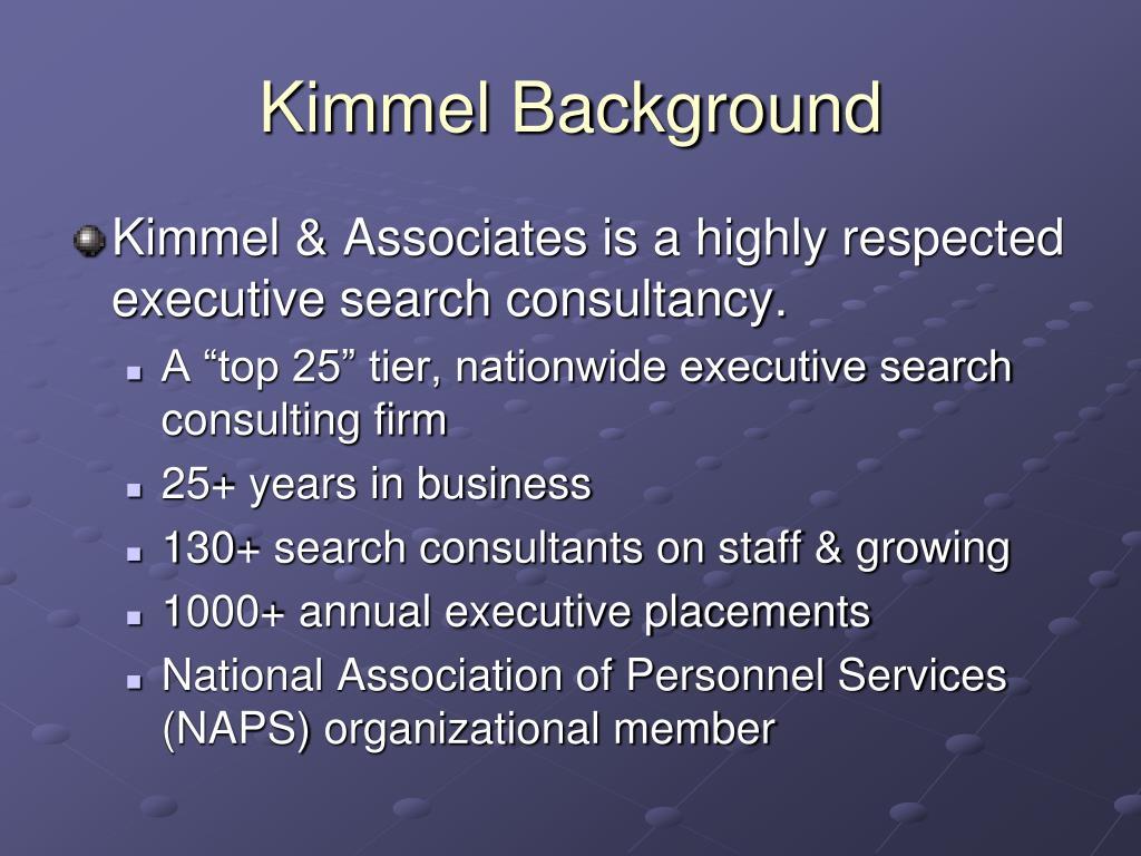 Kimmel Background