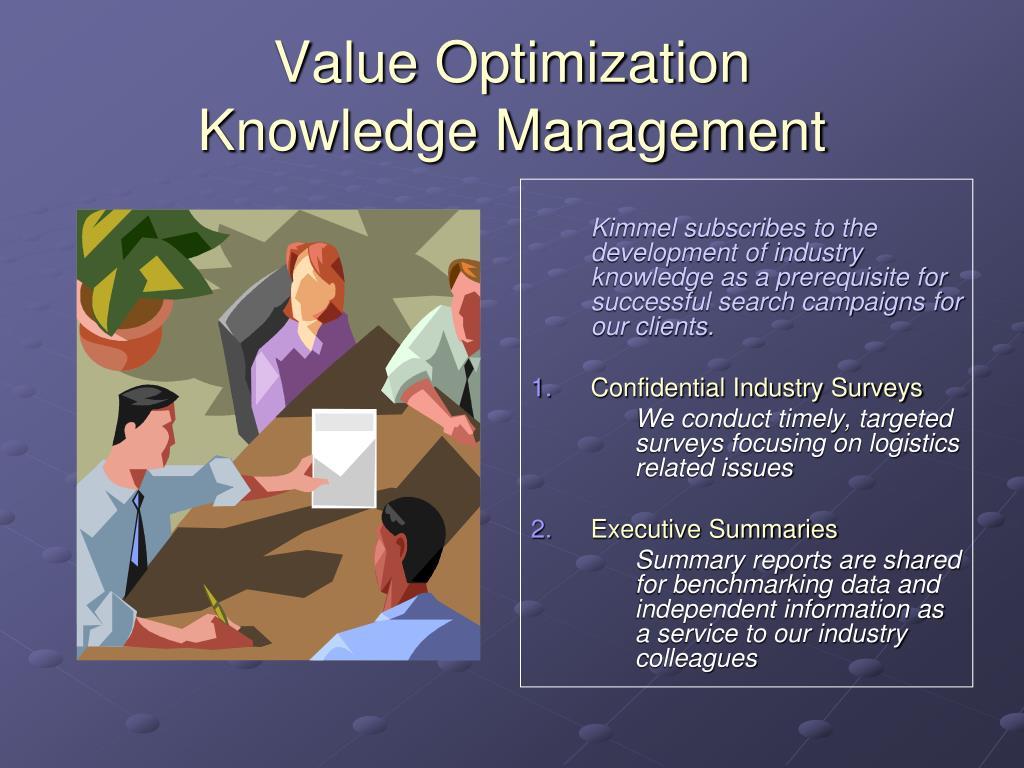 Value Optimization