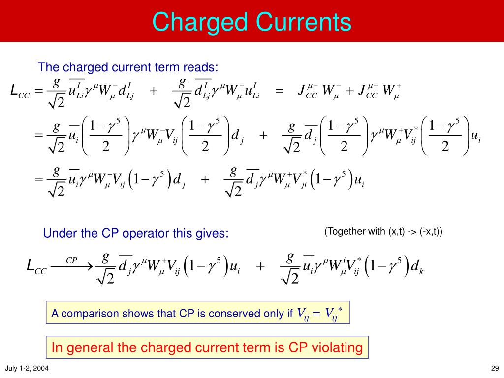 Charged Currents