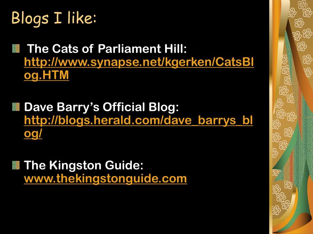 Blogs I like: