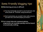 some friendly blogging tips