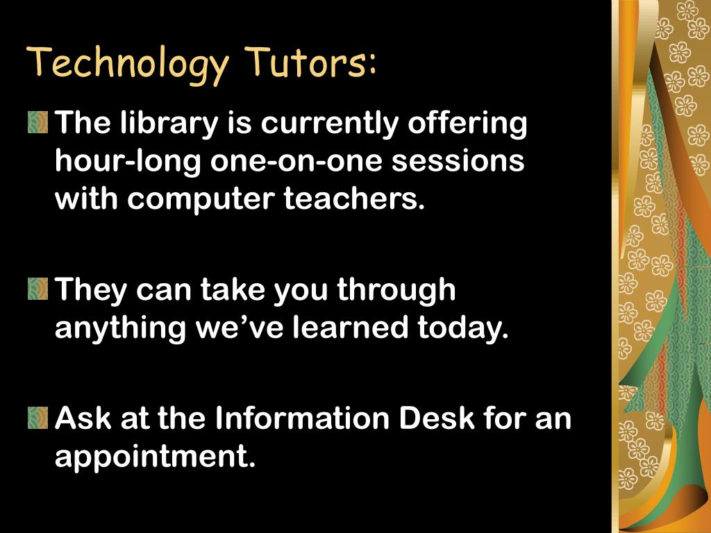Technology Tutors:
