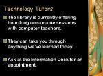 technology tutors