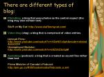 there are different types of blog