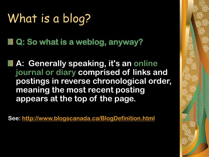 What is a blog l.jpg