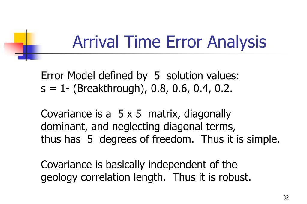 Arrival Time Error Analysis