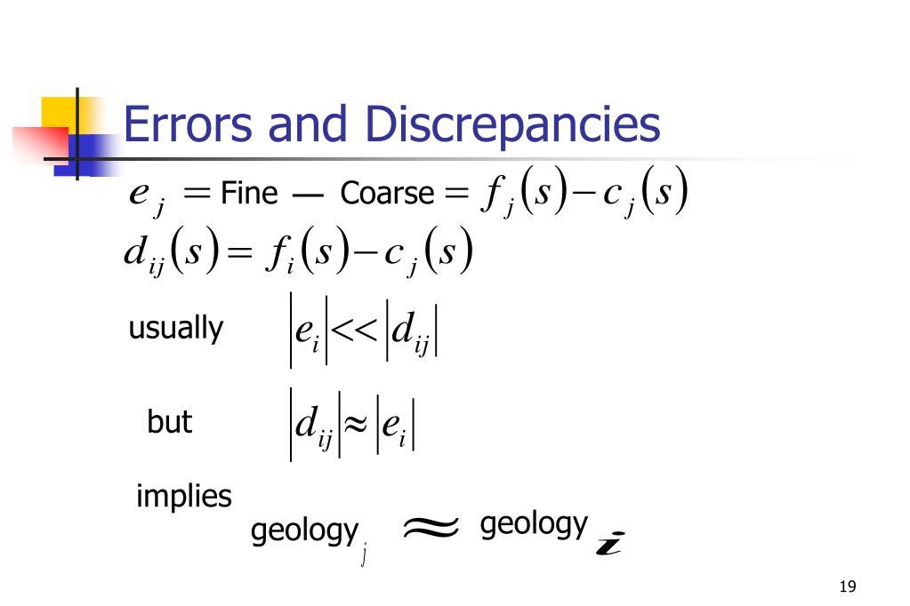 Errors and Discrepancies
