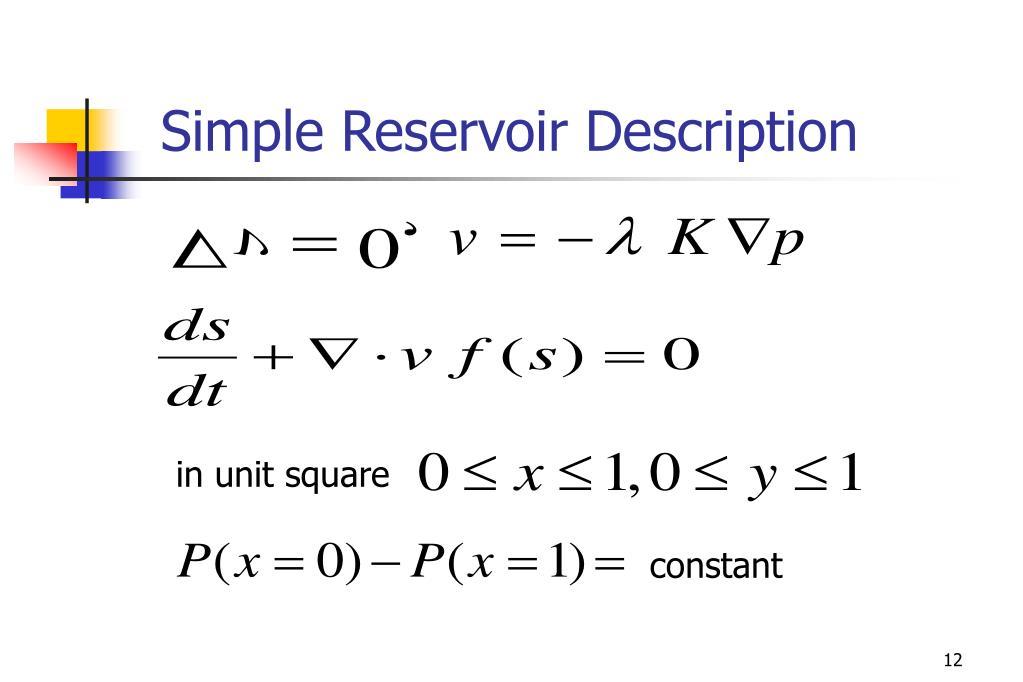Simple Reservoir Description