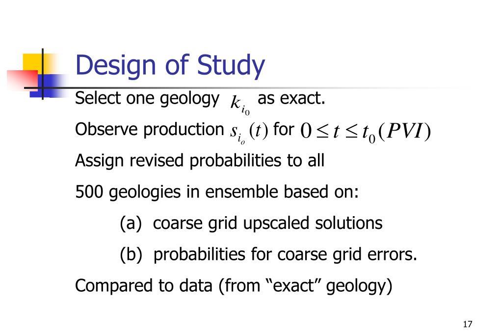 Design of Study