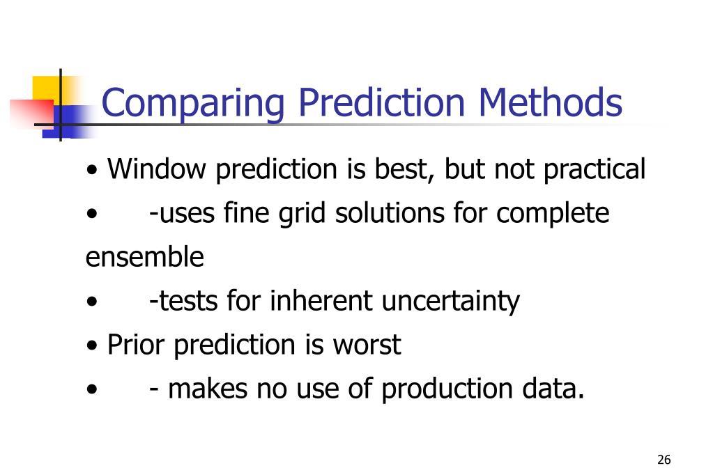 Comparing Prediction Methods