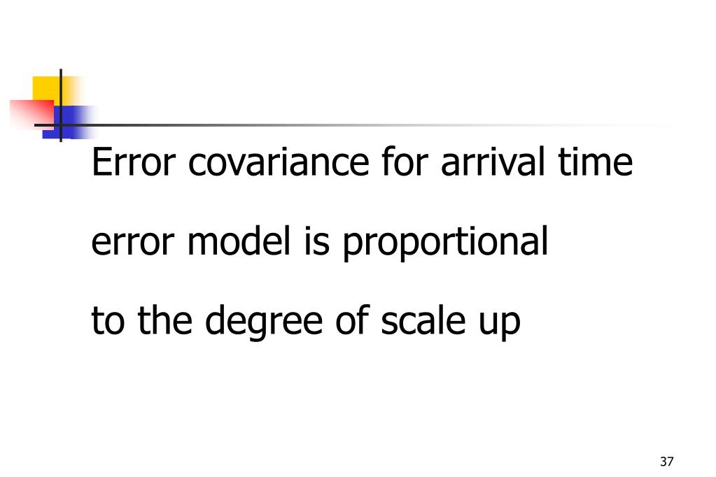 Error covariance for arrival time