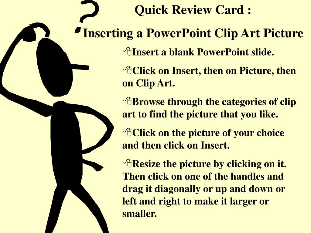 Quick Review Card :