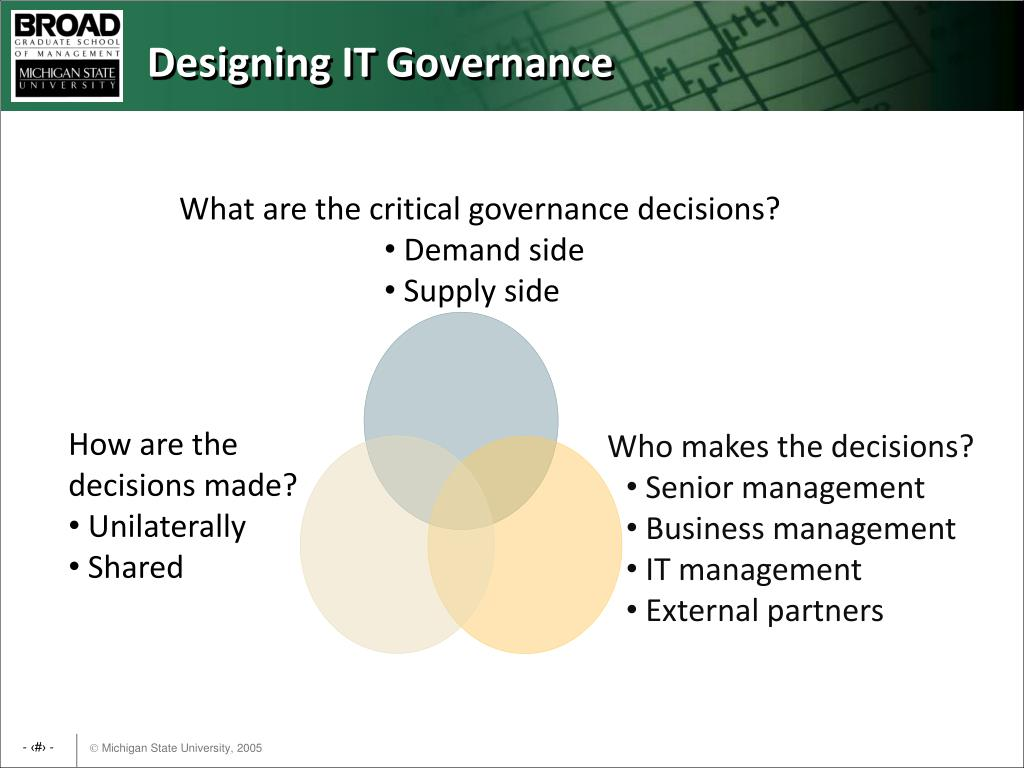 What are the critical governance decisions?