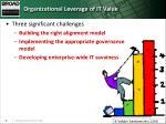 organizational leverage of it value