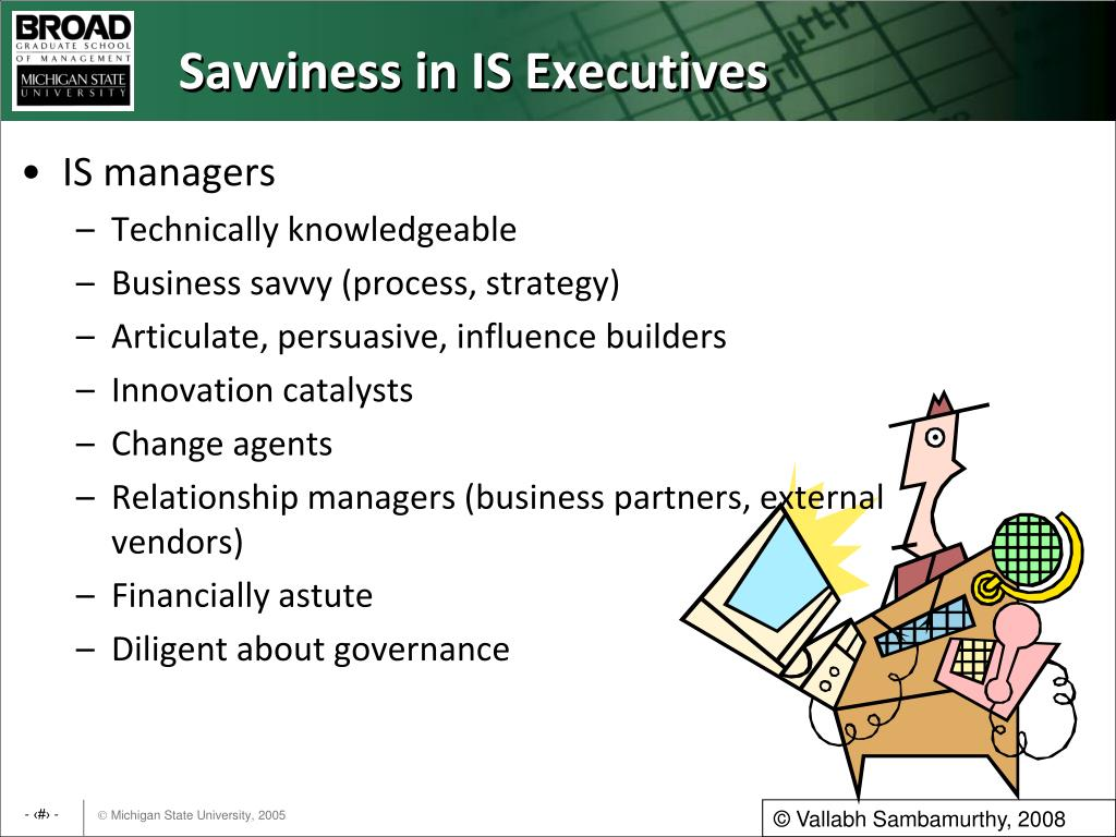 Savviness in IS Executives
