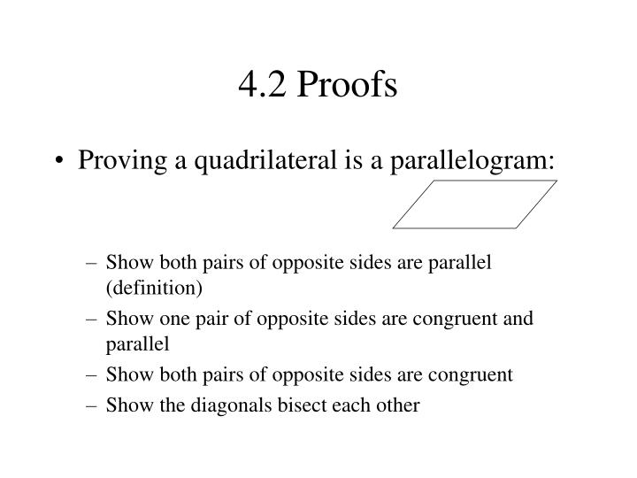 4.2 Proofs