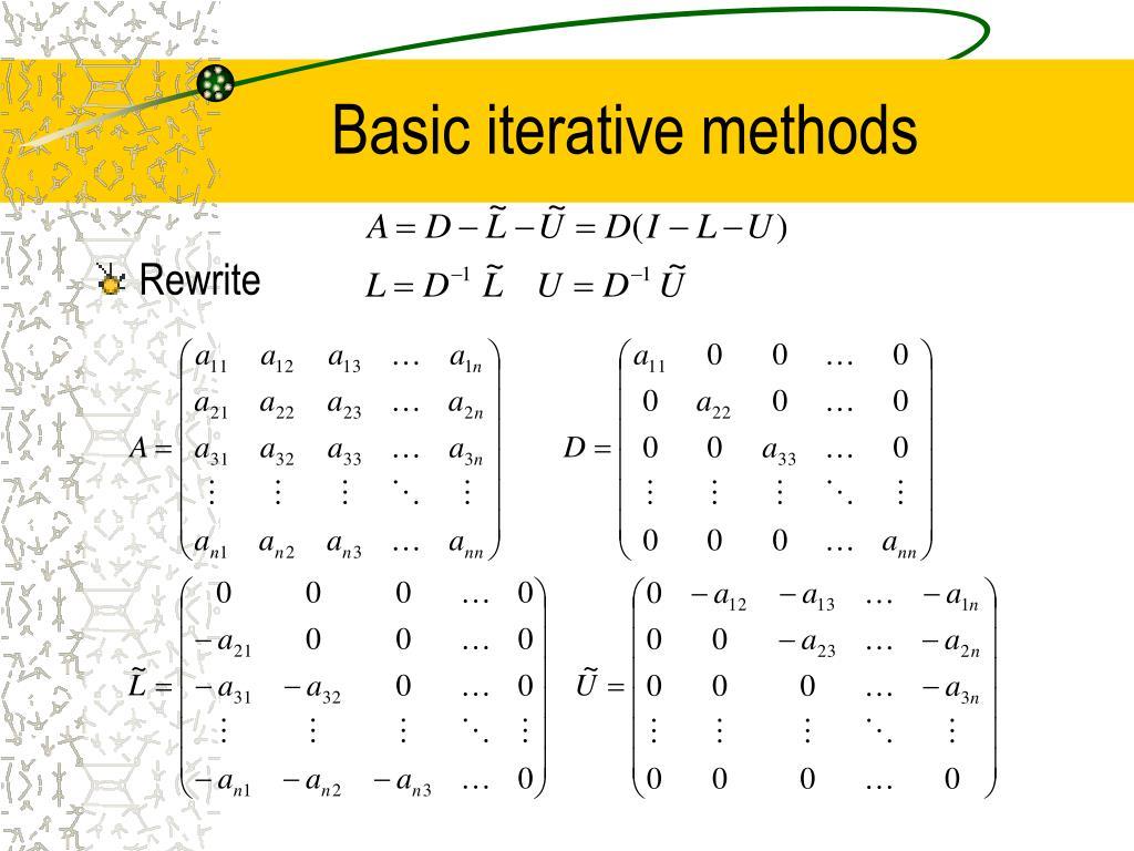 Basic iterative methods