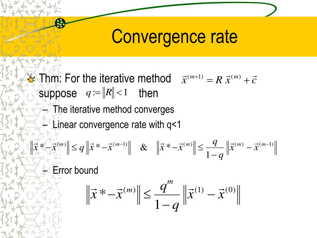 Convergence rate