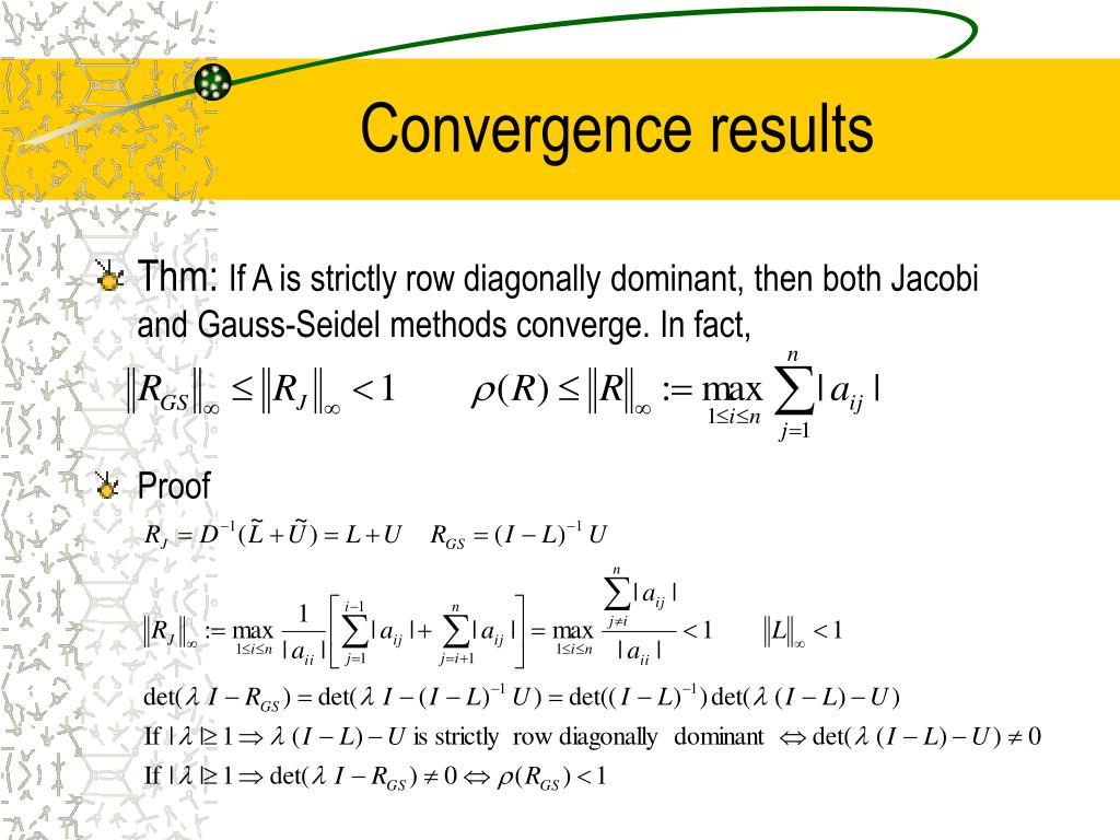 Convergence results