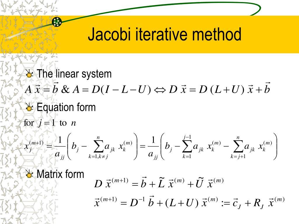 Jacobi iterative method