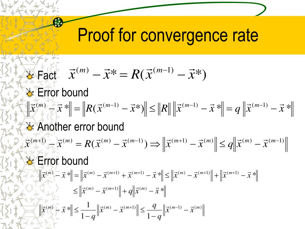 Proof for convergence rate